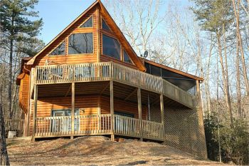 Georgia vacation cabin rentals georgia mountain and waterfront weekend getaway vacation rentals - Small log houses dream vacations wild ...